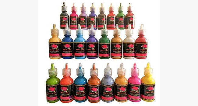 Fabric Paint 3D Permanent 24 Colors Set by Crafts 4 All